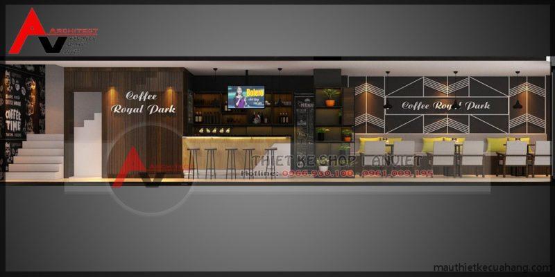 Thiết kế quán cafe 70m2 tại Bắc Ninh THU HÚT KHÁCH HÀNG
