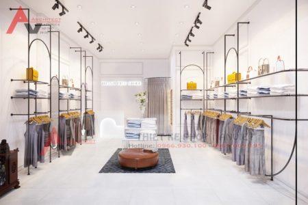 Thiết kế shop thời trang nữ hiện đại 30m2 tại Hà Nội