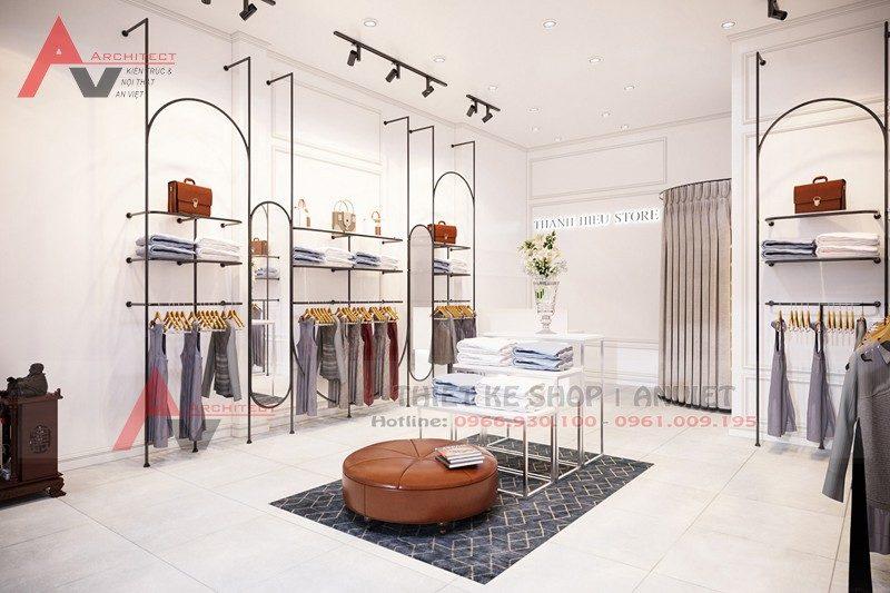 Bản vẽ thiết kế shop thời trang nữ hiện đại 30m2 tại Hà Nội