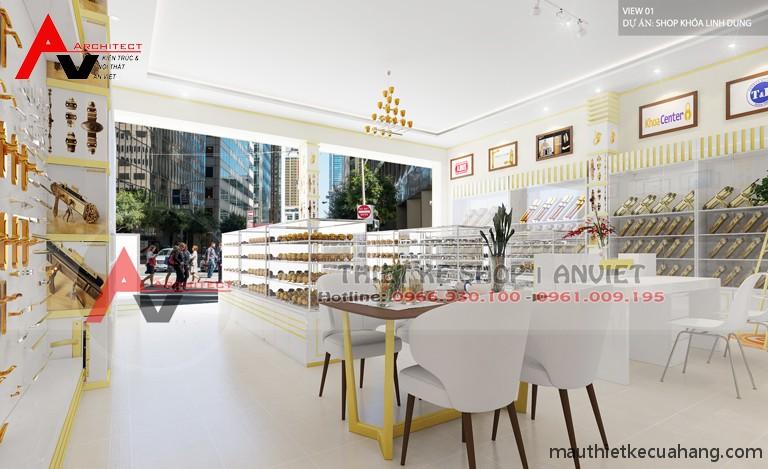 Thiết kế showroom khóa việt tiệp ĐẸP CHUYÊN NGHIỆP 80m2