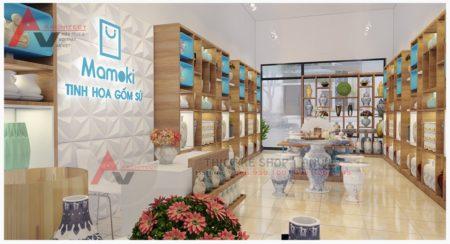 Thiết kế thi công hoàn thiện showroom gốm sứ 150m2 Vĩnh Phúc