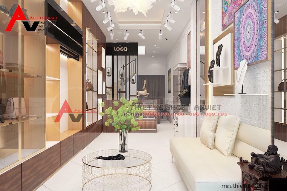Thiết kế showroom túi xách SANG TRỌNG tại Hà Nội