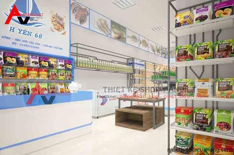 Thiết kế siêu thị mini 50m2 thực phẩm sạch tại Hà Nội