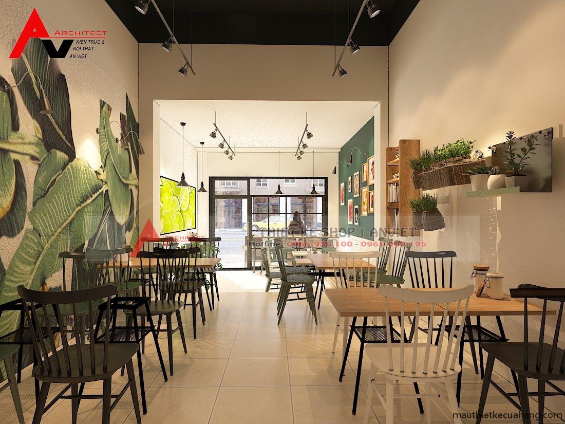 Thiết kế thi công quán cafe Mạnh 40m2 tại Hà Nội