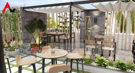 Mẫu thiết kế cafe sân vườn nhỏ, đơn giản mà hút khách tại Phú Thọ