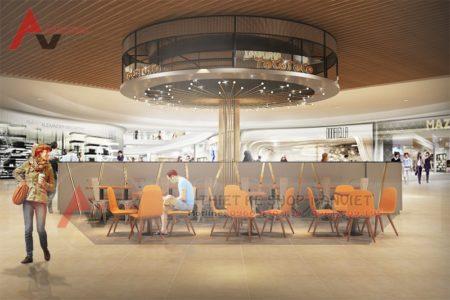 Mẫu thiết kế cửa hàng trà sữa TocoToco 80m2 AEON Mall Long Biên