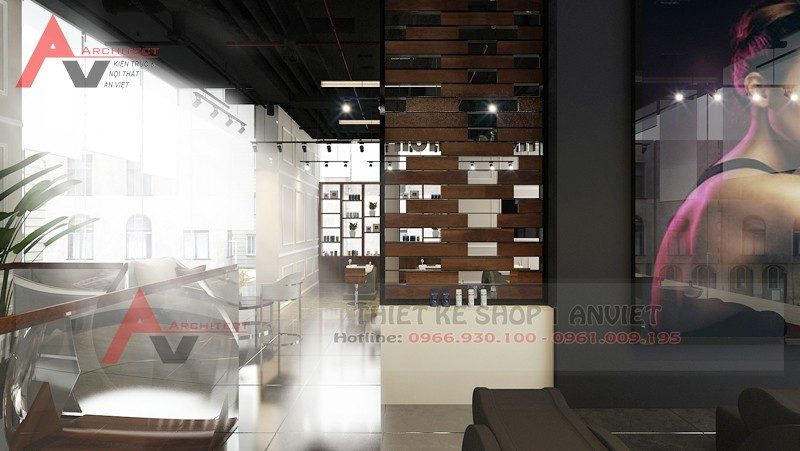 Mẫu thiết kế nội thất hair salon tóc 70m2 tại A1 Vinhomes Gardenia