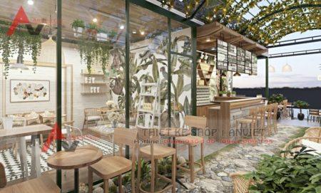 Mẫu thiết kế quán cafe sân vườn đẹp giữa lòng thành phố Đà Nẵng