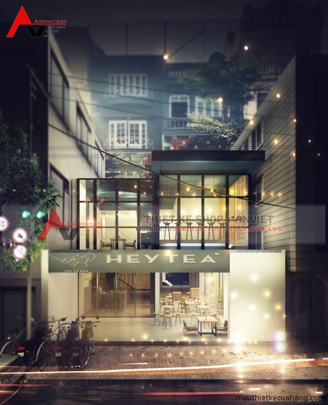 Mẫu thiết kế quán trà sữa HEY TEA 165m Xã Đàn Hà Nội