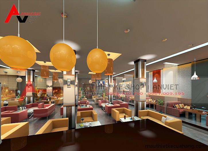 Phương án thiết kế quán cafe 300m2 ĐỘC ĐÁO thu hút khách hàng