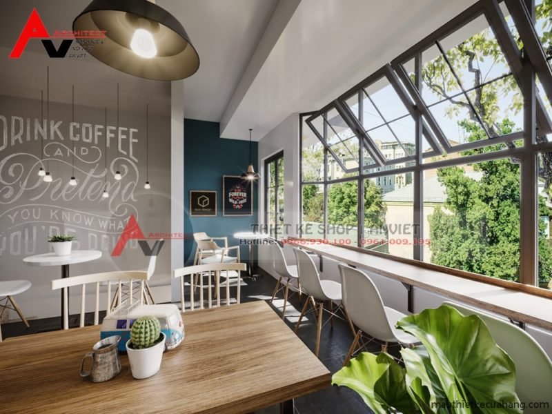Thiết kế hoàn thiện nội thất QUÁN CAFE DANHOUSE 300m tại Hà Nội