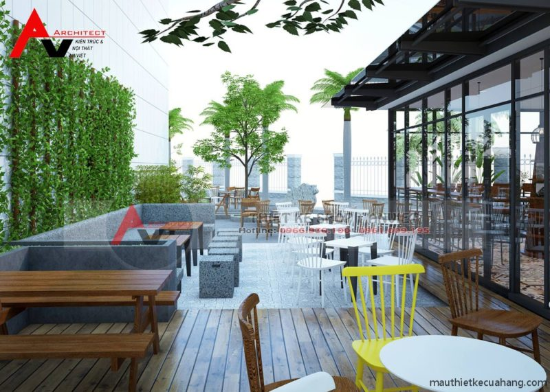 Thiết kế nội thất cafe sân vườn hiện đại 500m2 tại Hải Phòng