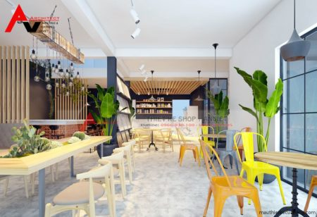 Thiết kế nội thất quán cafe 80m2 Anh Tuấn Linh Đàm