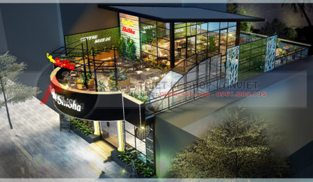 Thiết kế quán Coffee Shisha SANG TRỌNG ĐẲNG CẤP ở Bắc Ninh