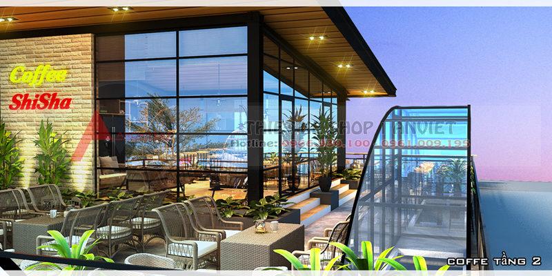 Thiết kế nội thất quán Coffee Shisha SANG TRỌNG ĐẲNG CẤP ở Bắc Ninh