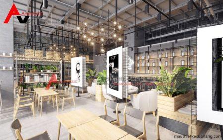 Thiết kế nội thất quán trà sữa HEY TEA sang trọng 200m2 Anh Dũng HN