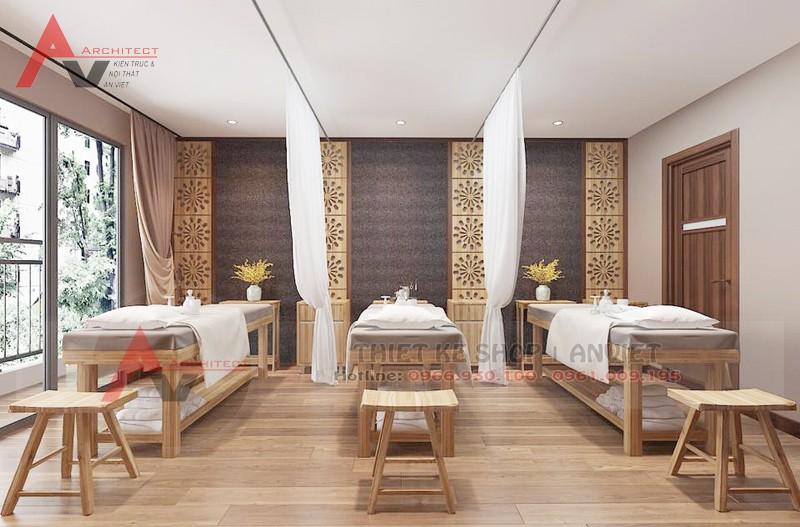 Thiết kế nội thất Sun Spa 120m2 tại Home City Hà Nội