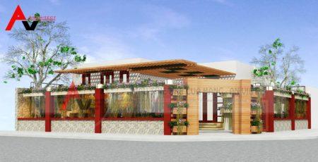 Thiết kế quán cafe sân vườn ĐẸP HÚT HỒN tại Quảng Ninh