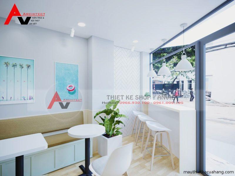 Thiết kế quán trà sữa nhỏ giá rẻ 30m tại Hà Nội