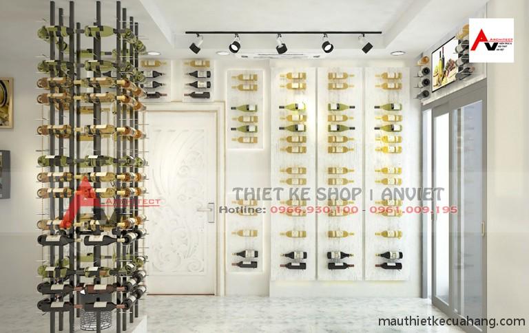 Bản vẽ thiết kế showroom rượu 40m2 anh Hòa TPHCM