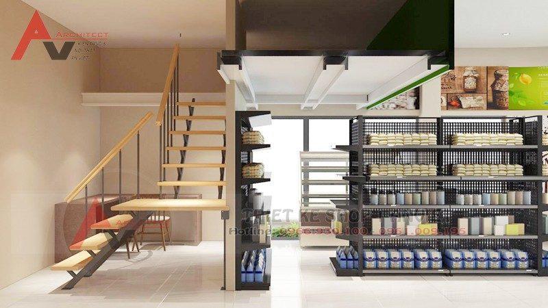 Thiết kế siêu thị mini tiện nghi hiện đại 60m2 tại Hà Nội