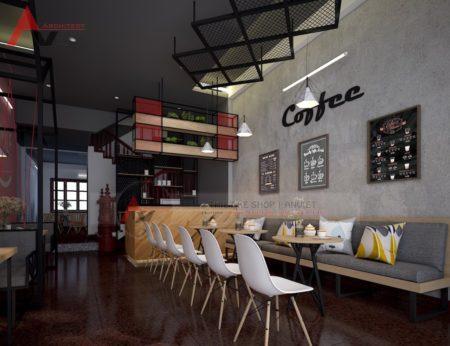 Thiết kế thi công nội thất quán cafe Smile 80m2 tại Hà Nội