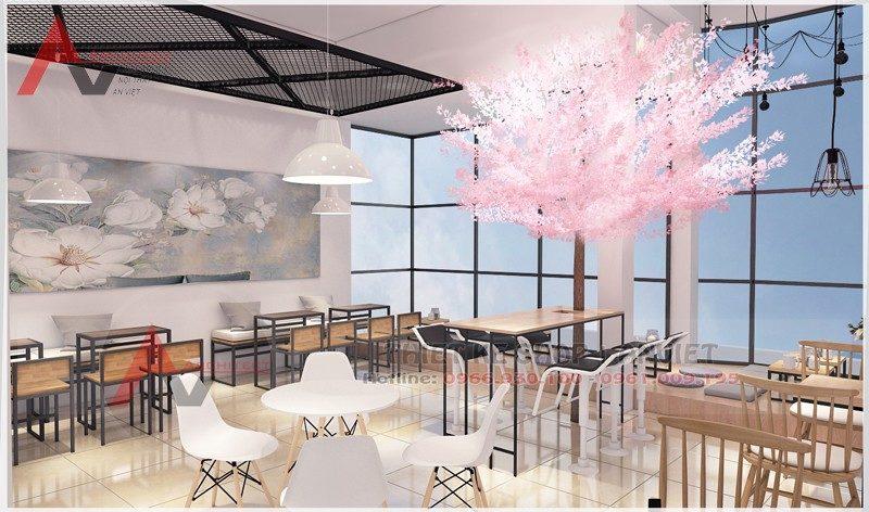 Thiết kế thi công quán cafe 160m2 tại Sơn La cải tạo quán cafe