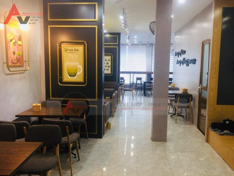 Ảnh thiết kế thi công quán trà sữa TocoToco 539 Lĩnh Nam