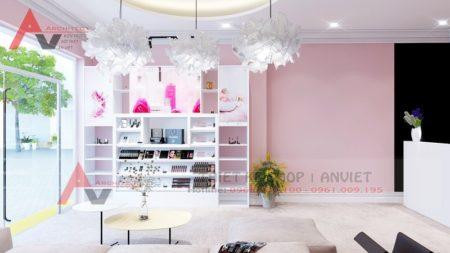 Mẫu nội thất spa FRESPA tone màu hồng độc đáo 60m2 Lạng Sơn