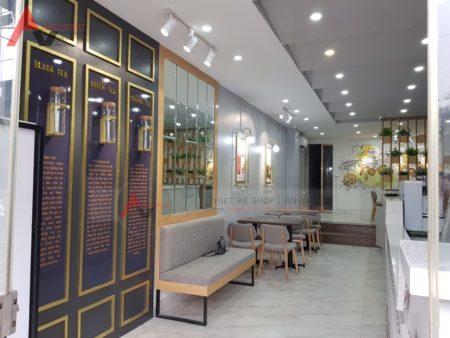 Tư vấn thiết kế thi công trọn gói quán trà sữa TocoToco Nguyễn Khang