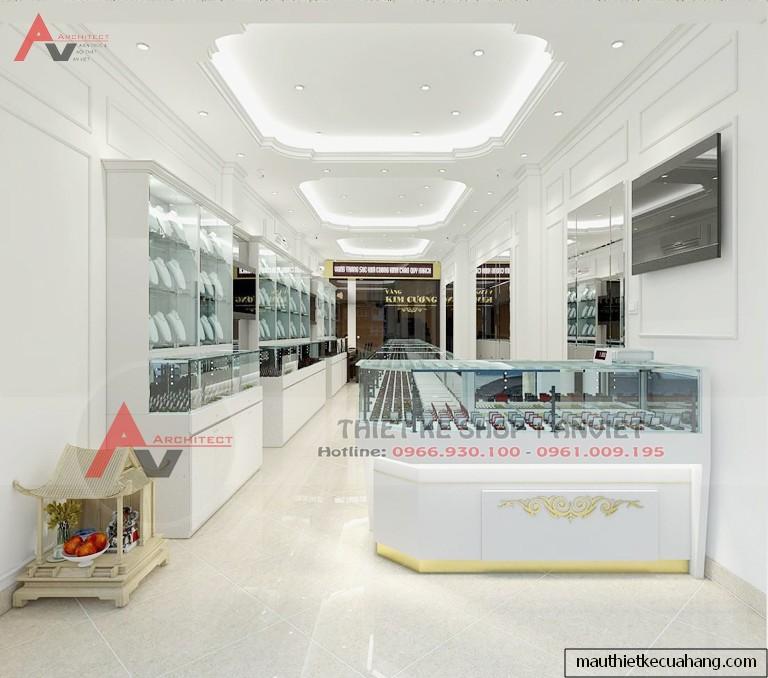 Công trình thiết kế shop vàng trang sức 45m2 tại Ba Đình HN