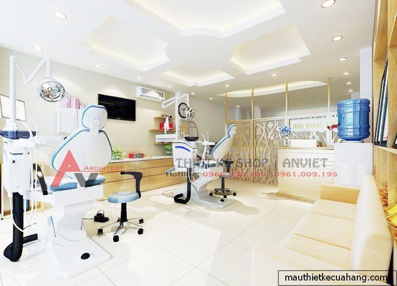 Mẫu thiết kế phòng khám nha khoa thẩm mỹ 30m2 anh Điền Thanh Xuân