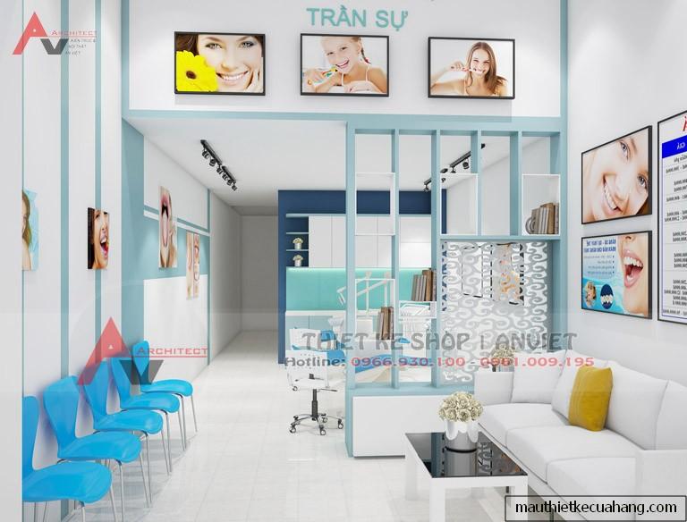 Mẫu trang trí nội thất Phòng Khám Nha Khoa hiện đại 30m2 Bắc Ninh