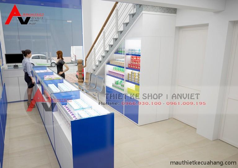Thiết kế cửa hàng thuốc tây đạt chuẩn GPP 45m2 tại Quảng Ninh
