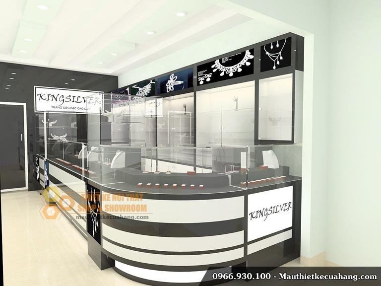 Thiết kế cửa hàng trang sức nhỏ đẹp 30m2 tại Hà Nội