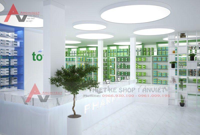 Thiết kế hiệu thuốc tây chuẩn GPP diện tích 200m2 ở Thanh Hóa