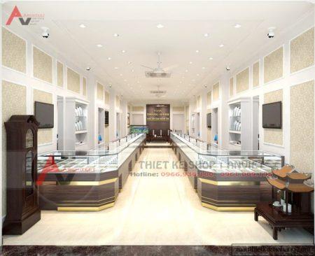 Thiết kế nội thất cửa hàng Vàng Trang Sức 60m2 Thụy Khuê Hà Nội