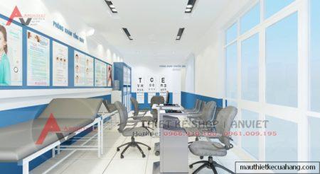 Thiết kế nội thất Phòng Khám Mắt đẹp, hiện đại nhất 80m2 Hà Nội