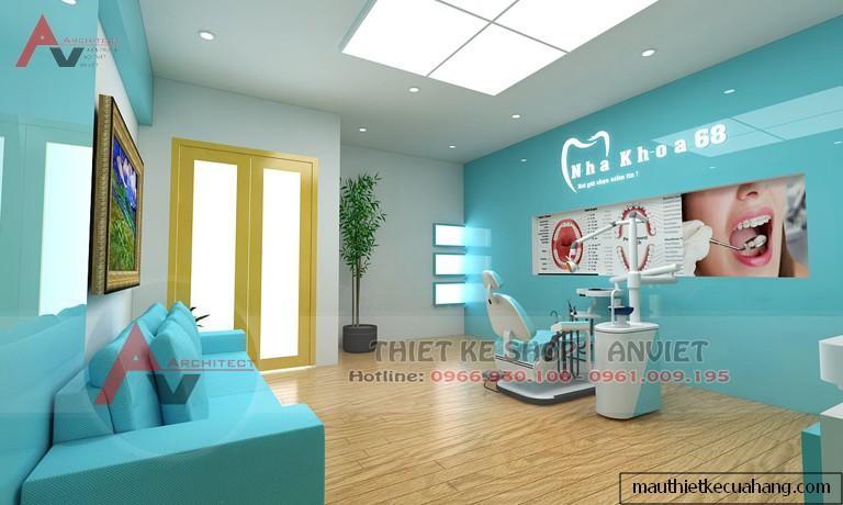Thiết kế nội thất phòng khám nha khoa 120m2 tại Hà Đông HN