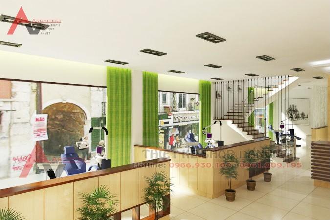Thiết kế phòng khám nha khoa chuyên nghiệp 150m2 Bắc Giang