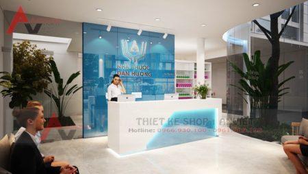 Thiết kế nội thất phòng khám nhà thuốc hiện đại 140m2 tại Thanh Hóa