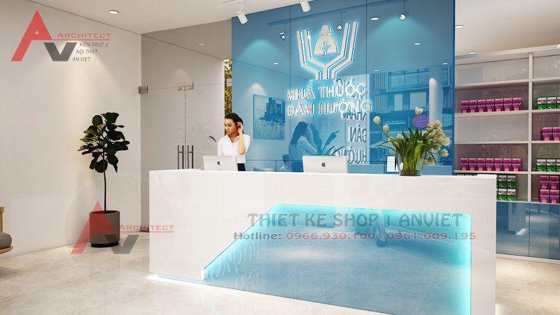 Thiết kế phòng khám nhà thuốc hiện đại 140m2 tại Thanh Hóa