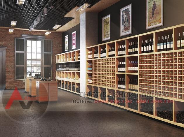 Mẫu thiết kế quán rượu ngoại đẹp mắt sang trọng 90m2