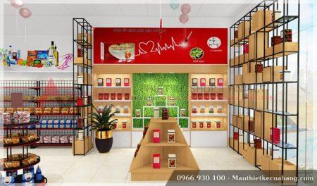 Thiết kế xây dựng siêu thị mini đẹp 140m2 tại Hải Phòng