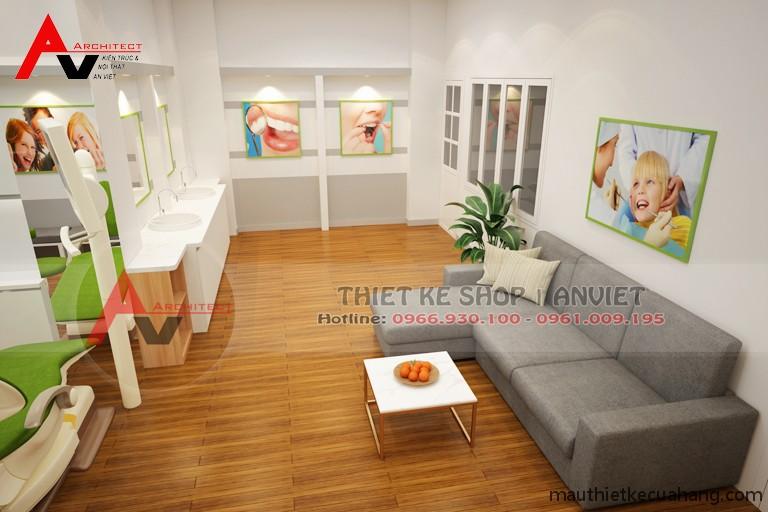 Trang trí nội thất Phòng Khám Nha Khoa đẹp ấn tượng 60m2 ở HN