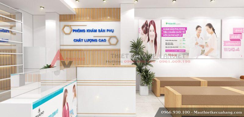 Trang trí nội thất phòng khám nhỏ hiện đại 40m2 tại Hà Nội