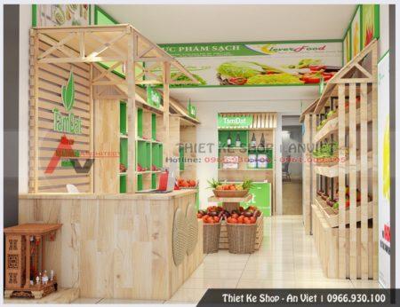 Thiết kế cửa hàng hoa quả sạch 40m2 Tâm Đạt 110 Láng Hạ