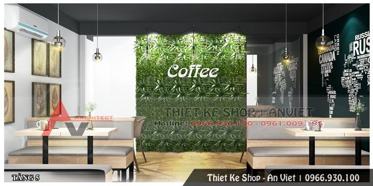 Thiết kế hoàn thiện nội thất quán cafe 200m2 tại Hòa Bình