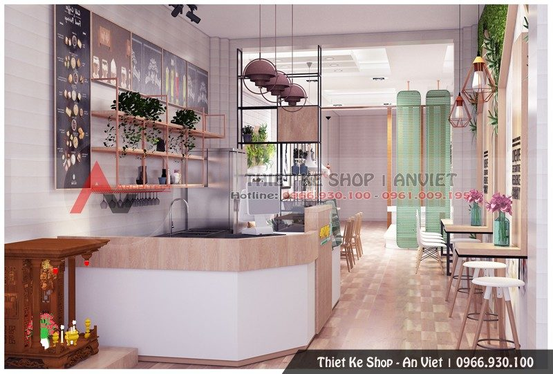 Thiết kế nội thất quán cafe 60m2 tại Thanh Oai