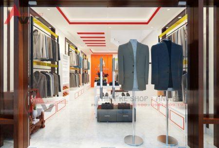 Thiết kế nội thất shop quần áo nam 30m2 Chị Yến Lạng Sơn